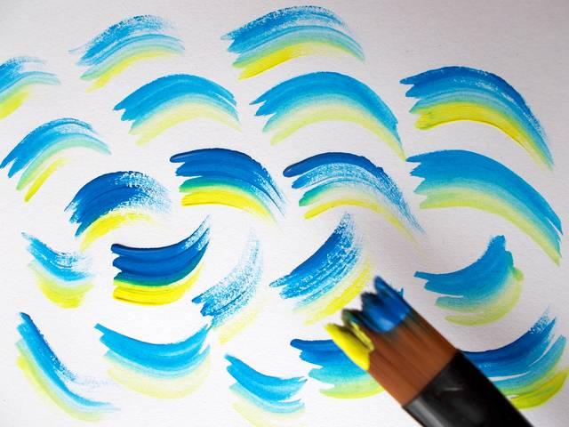 hobby štetec na maľovanie obrazov