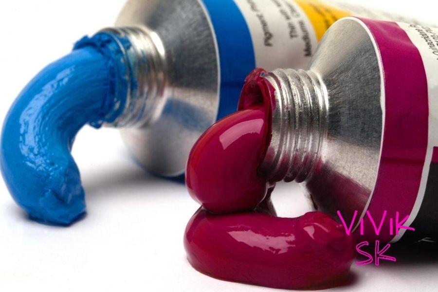 Maľovanie obrazov akrylovými farbami - akryl v tube