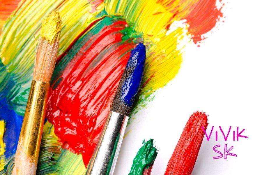 Maľovanie obrazov akrylovými farbami a štetce